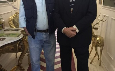 Sito Tejeiro con Quique Bustos